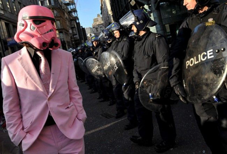 Trooper-pink-protester