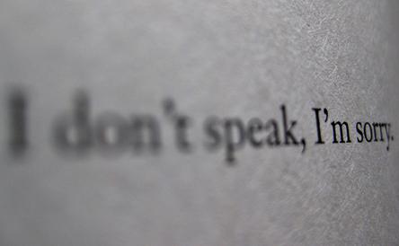 Idontspeak