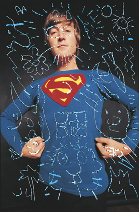 John_drawing_superman