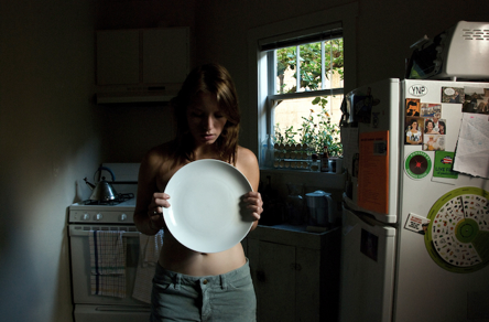 Girl and plate