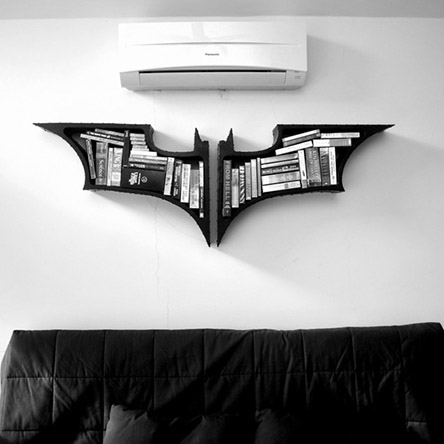 Batman-sign-bookshelf