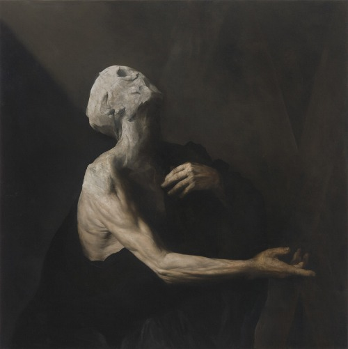 Nicola Samori  L'Occhio Occidentale  2013  oil on copper