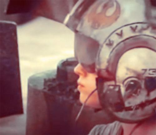 Rey with Helmet